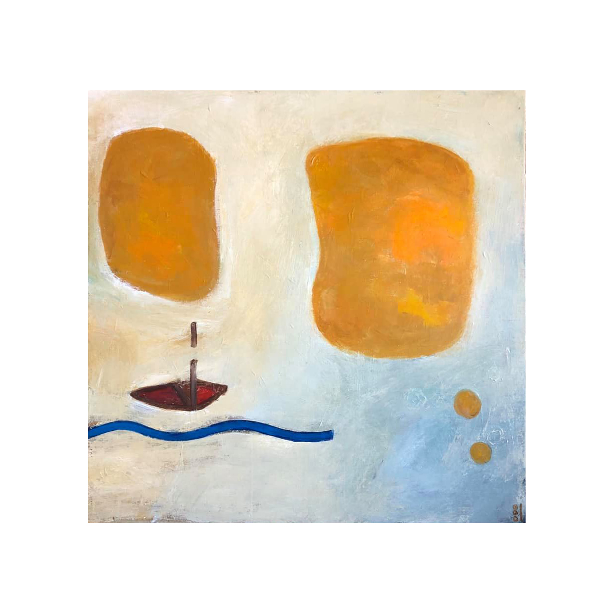 New Abstract Boat Painting