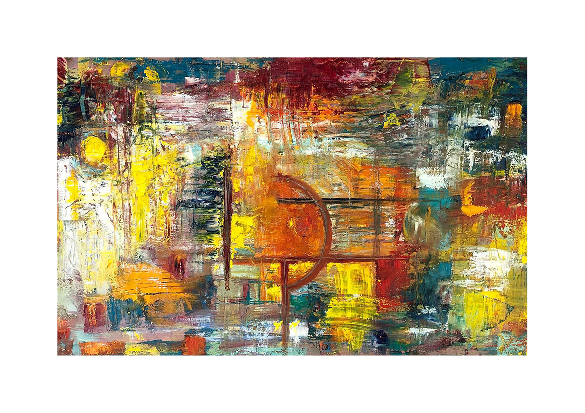 Landscape Completely Abstract Painting